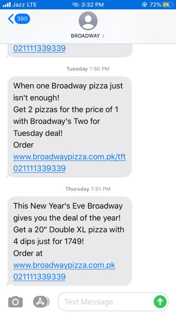 Branded Sms Message