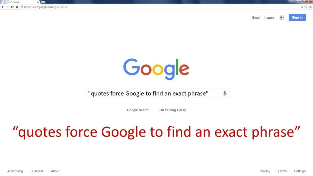 Quotes Search on Google
