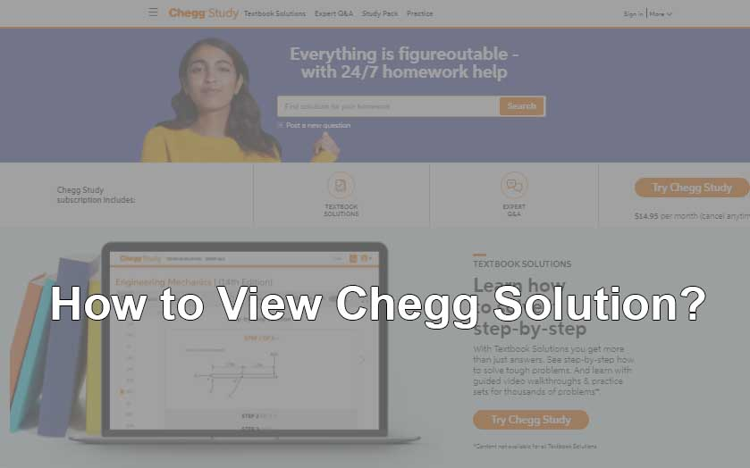 How to View Chegg Solutions for free