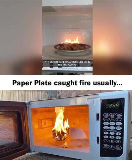 Paper Plates Caught Fire