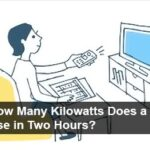 how many killowatts a tv use in two hours