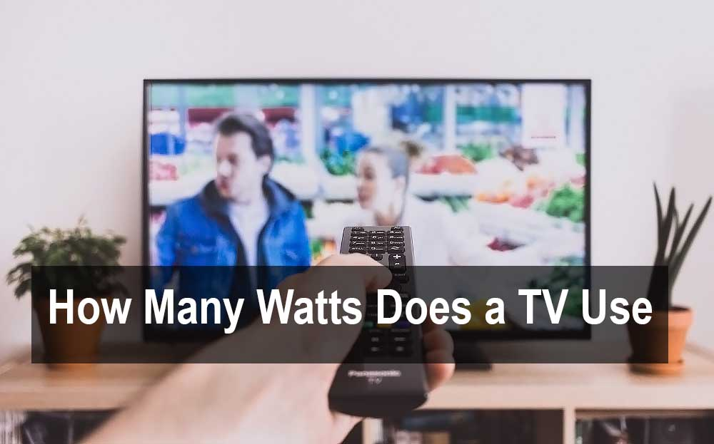 how mant watts does a tv use