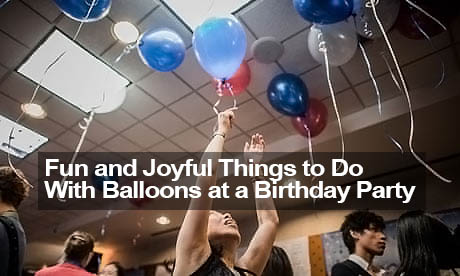 things to do with balloons in party