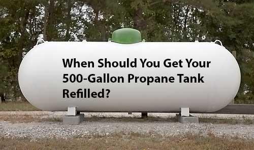 500-Gallon Propane Tank Refilled