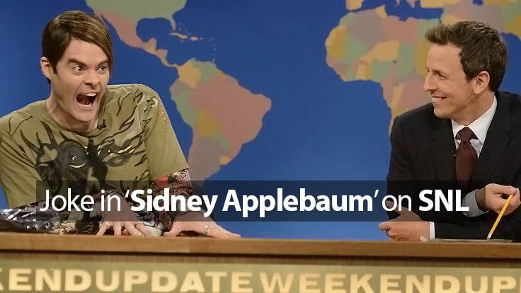 """What is the joke in """"Sidney Applebaum"""" on SNL?"""
